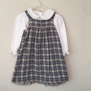 Janie & Jack 2pc Plaid Dress Set